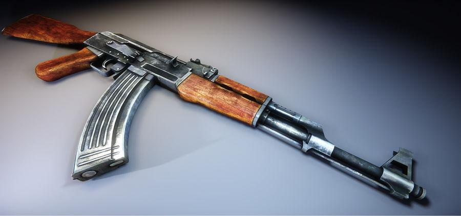 AK-47 royalty-free 3d model - Preview no. 7