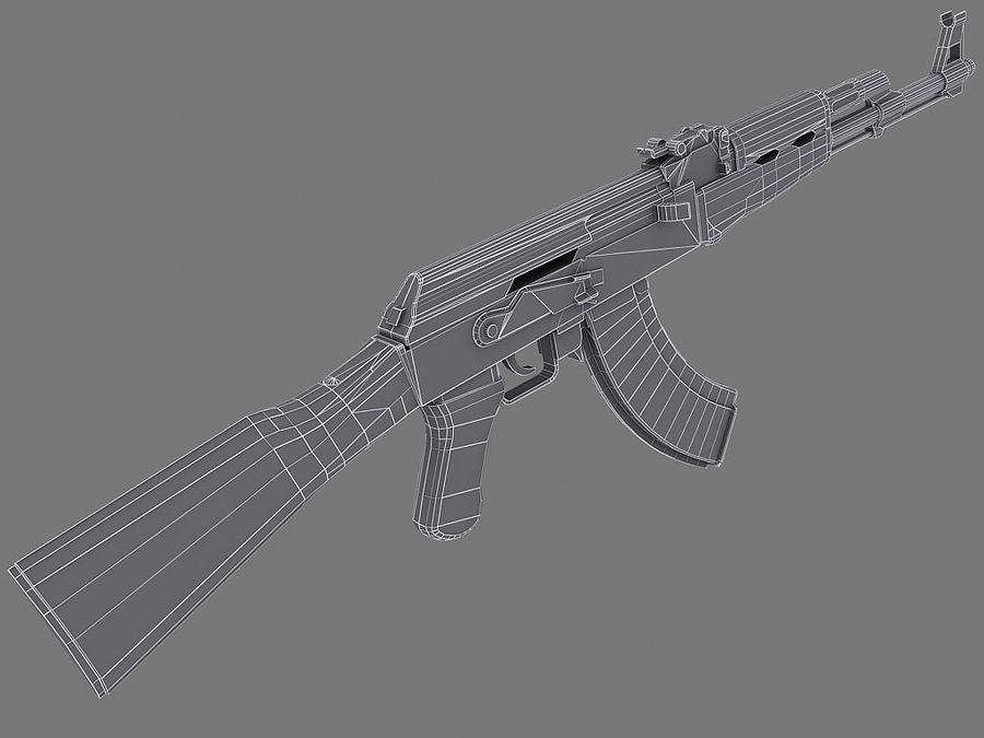 AK-47 royalty-free 3d model - Preview no. 2