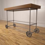 Panchina con ruote 3d model