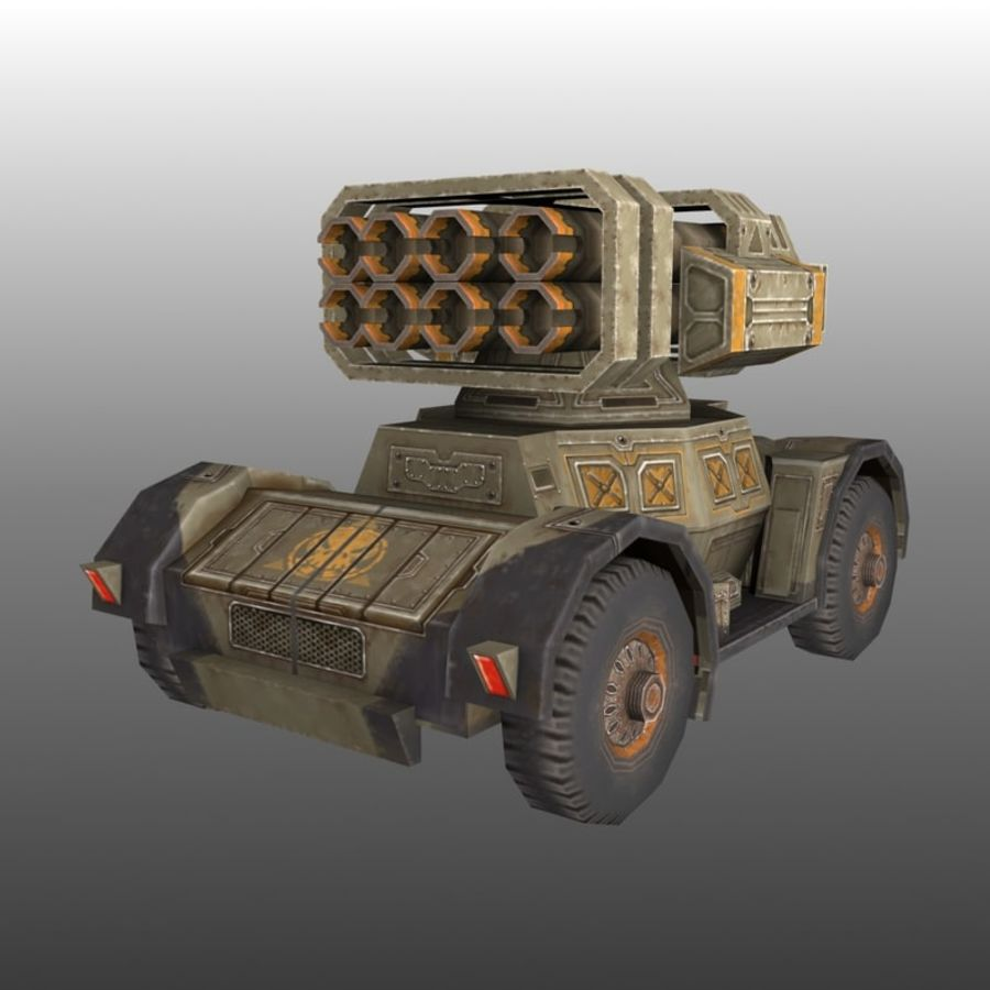 Low poly RTS Tank 01 royalty-free 3d model - Preview no. 1