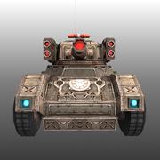 Düşük Poli RTS Tankı 02 3d model