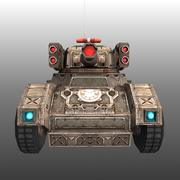 Low poly RTS Tank 02 3d model