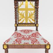 Classical antique furniture rococo chair for a prayer 3d model
