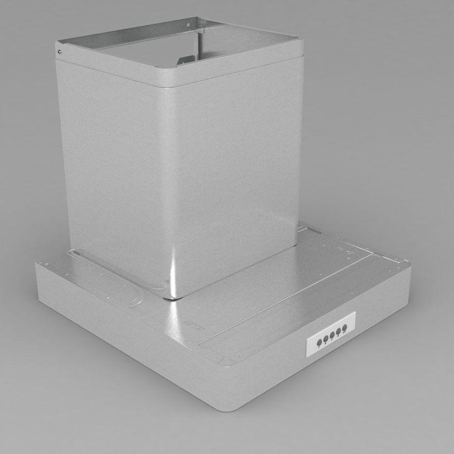Exaustor de cozinha 3 royalty-free 3d model - Preview no. 4