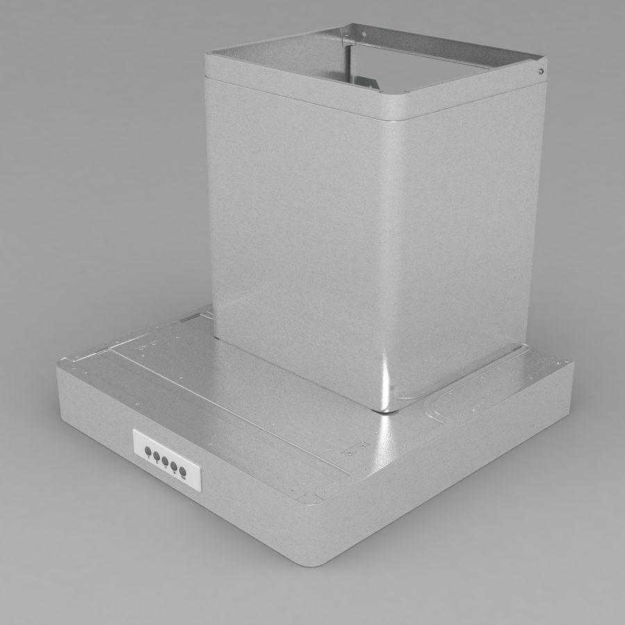 Exaustor de cozinha 3 royalty-free 3d model - Preview no. 5