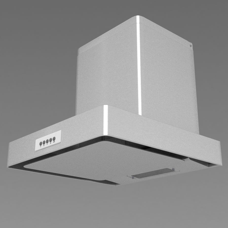 Exaustor de cozinha 3 royalty-free 3d model - Preview no. 2