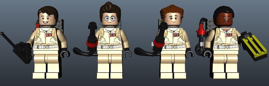 Ghostbusters Lego Figurki Kompletny zestaw royalty-free 3d model - Preview no. 5