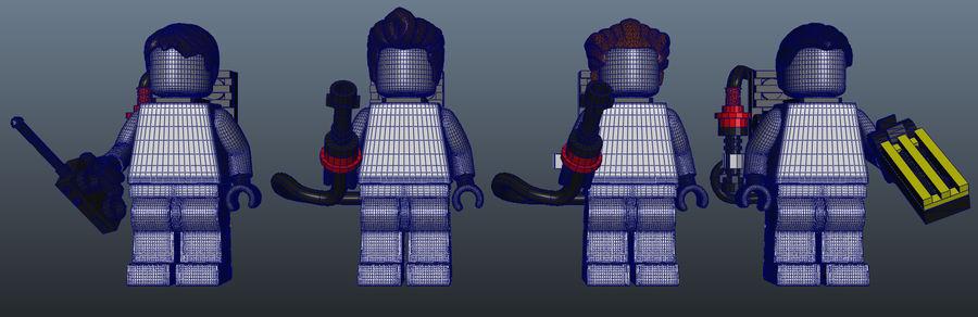 Ghostbusters Lego Figurki Kompletny zestaw royalty-free 3d model - Preview no. 8