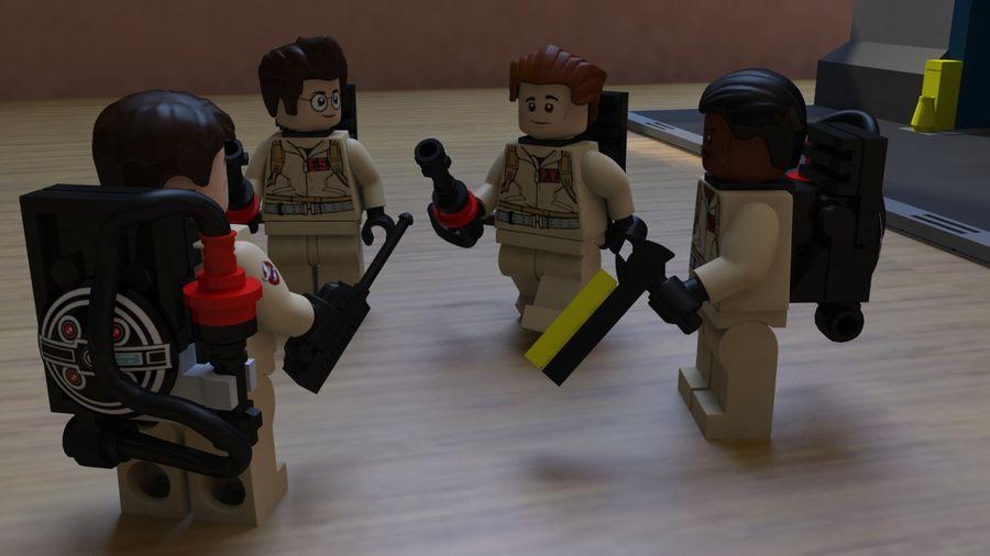 Ghostbusters Lego Figurki Kompletny zestaw royalty-free 3d model - Preview no. 4