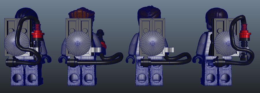 Ghostbusters Lego Figurki Kompletny zestaw royalty-free 3d model - Preview no. 9