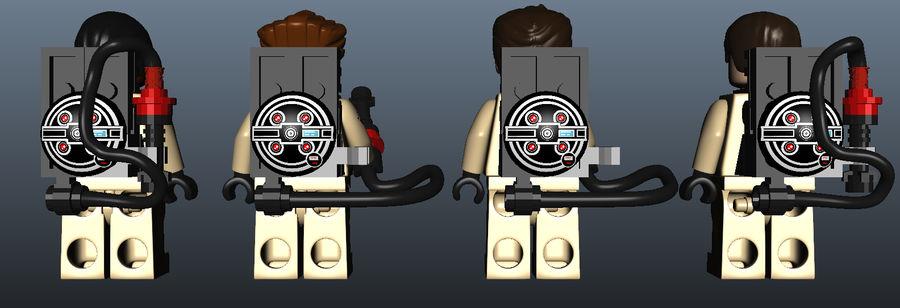 Ghostbusters Lego Figurki Kompletny zestaw royalty-free 3d model - Preview no. 6