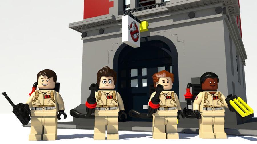 Ghostbusters Lego Figurki Kompletny zestaw royalty-free 3d model - Preview no. 1