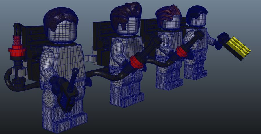 Ghostbusters Lego Figurki Kompletny zestaw royalty-free 3d model - Preview no. 10