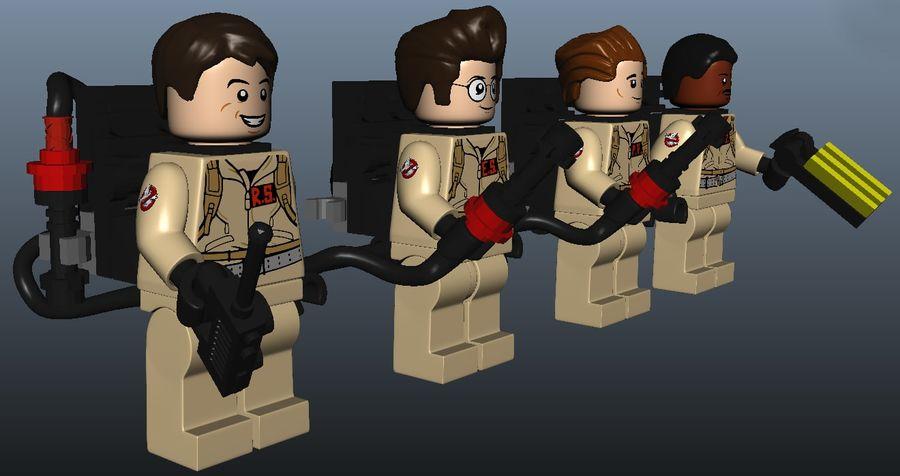 Ghostbusters Lego Figurki Kompletny zestaw royalty-free 3d model - Preview no. 7