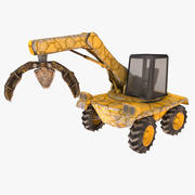 Working machine - landfill claw loader 3d model