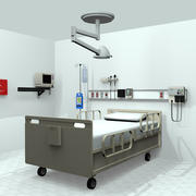 Hospital Room Medical Equipment 3d model