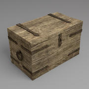 Old Medieval Chest, Medium Poly 3d model