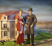 Aristocratie couple 3d model