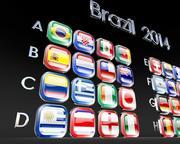 Brezilya bayrakları 2014 3d model