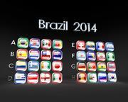 Flagi Brazylii 2014 3d model