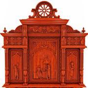 古典古董家具布雷顿自助餐厅 3d model
