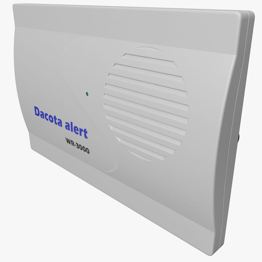 Bezprzewodowy system bezpieczeństwa PIR royalty-free 3d model - Preview no. 1