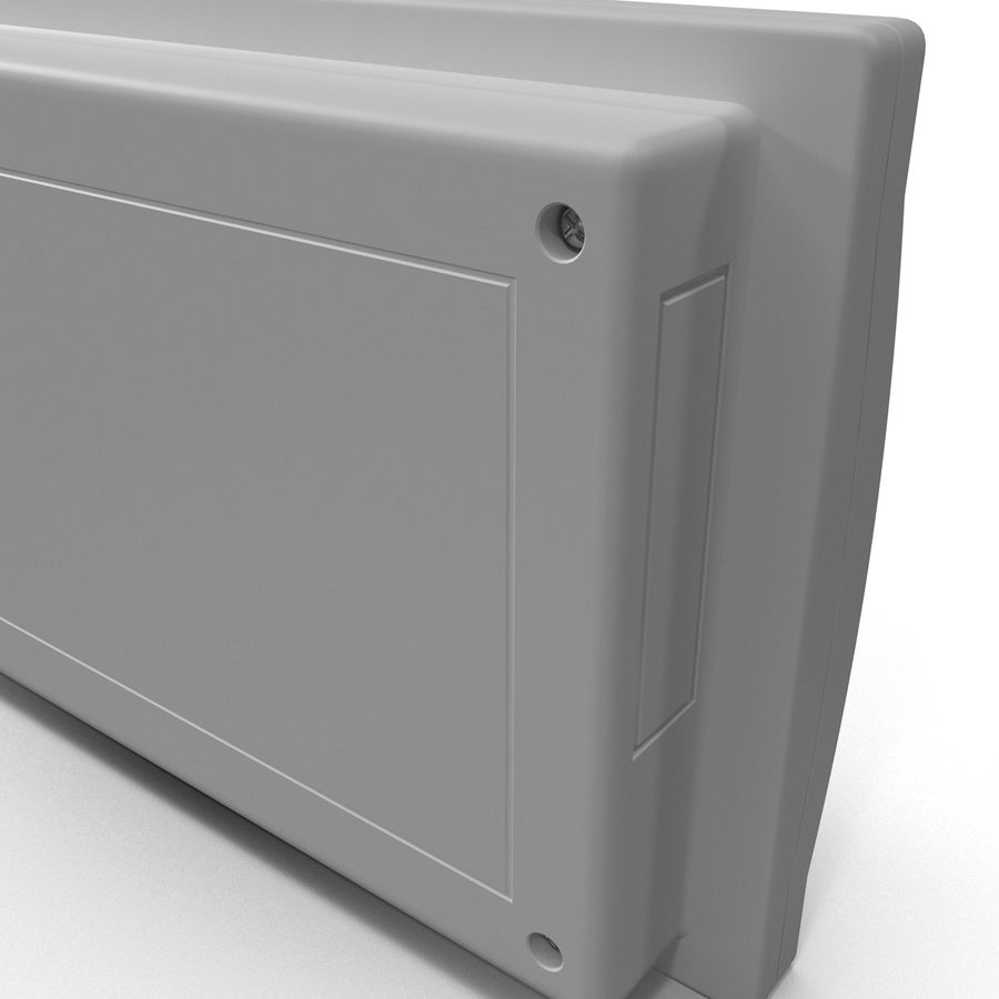 Bezprzewodowy system bezpieczeństwa PIR royalty-free 3d model - Preview no. 12
