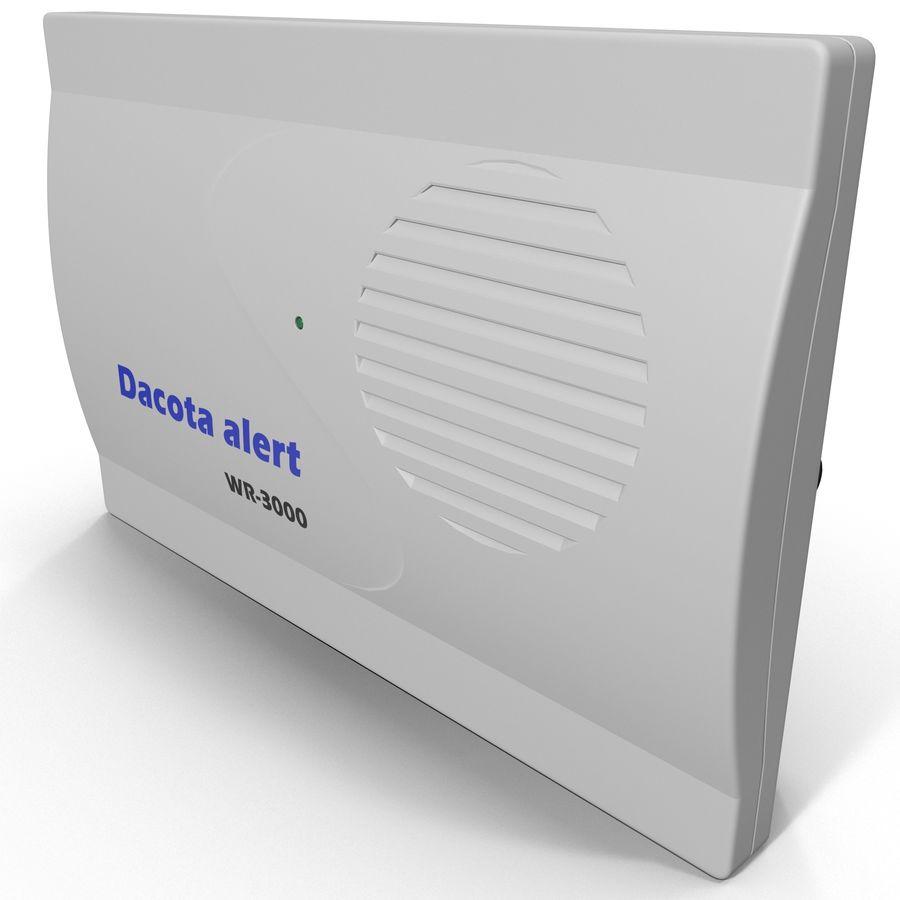 Bezprzewodowy system bezpieczeństwa PIR royalty-free 3d model - Preview no. 2