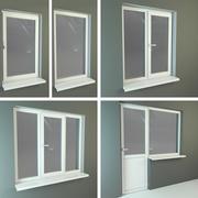 Пластиковые окна 3d model