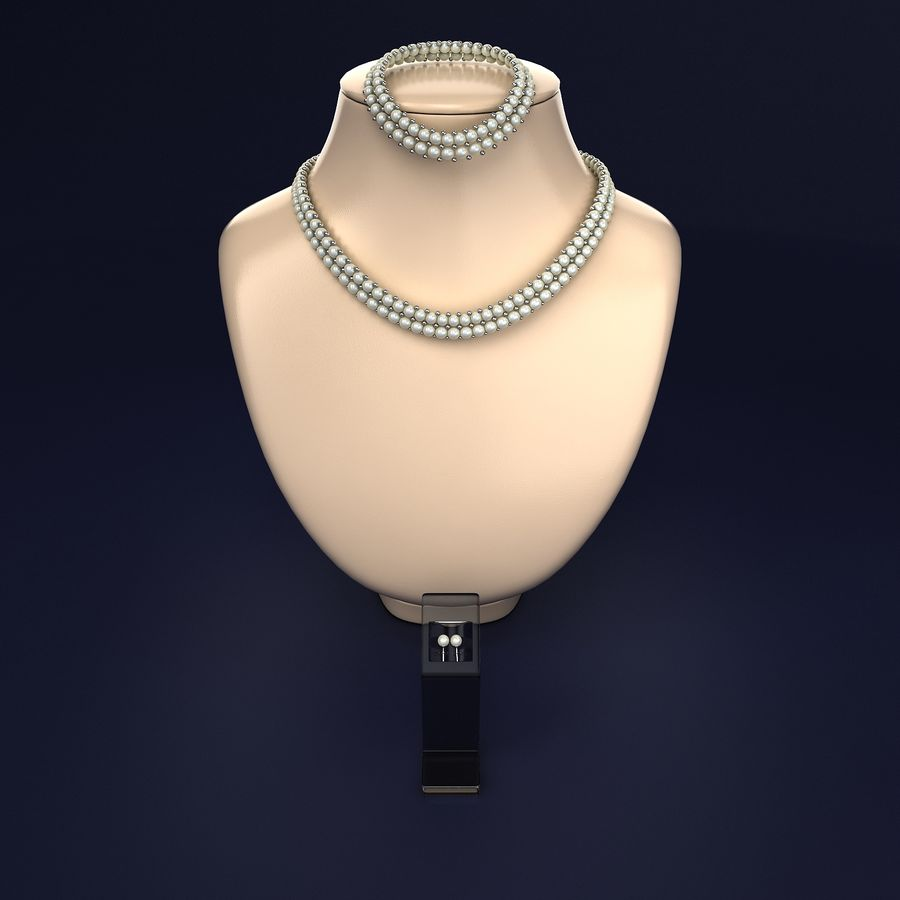 Jewelry Set royalty-free 3d model - Preview no. 1