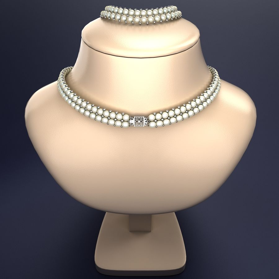 Jewelry Set royalty-free 3d model - Preview no. 6