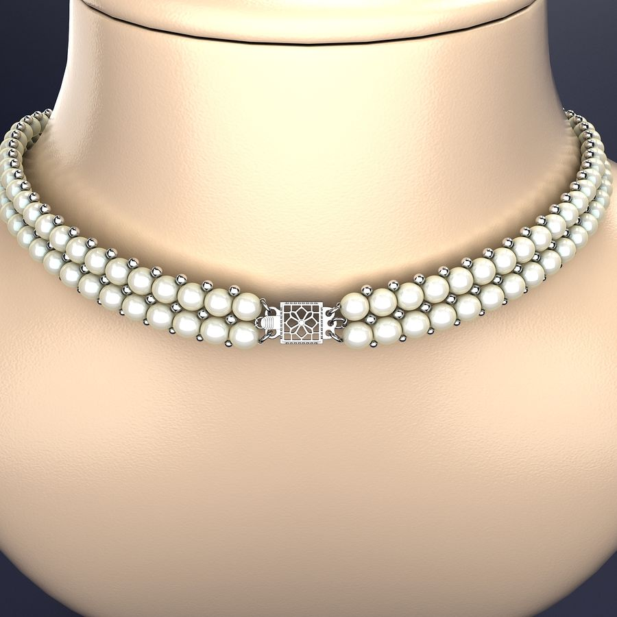 Jewelry Set royalty-free 3d model - Preview no. 4