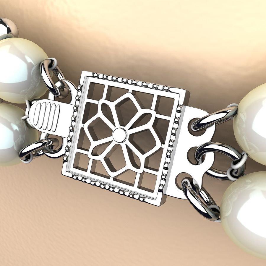 Jewelry Set royalty-free 3d model - Preview no. 7