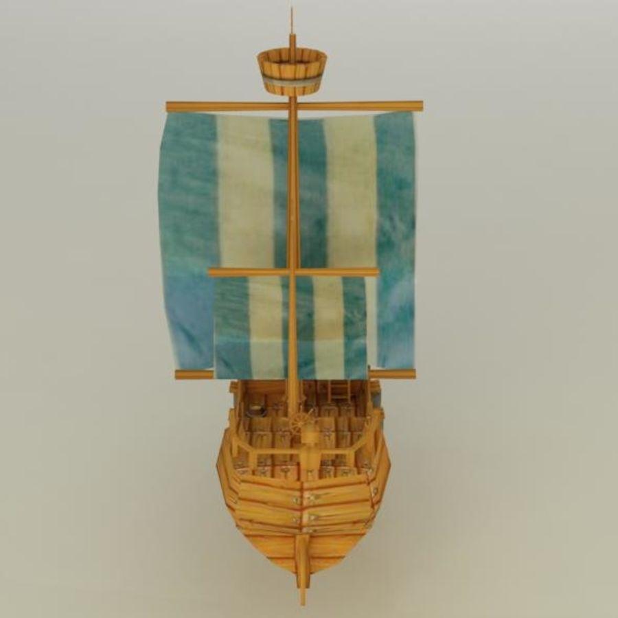 Низкополигональный корабль royalty-free 3d model - Preview no. 4