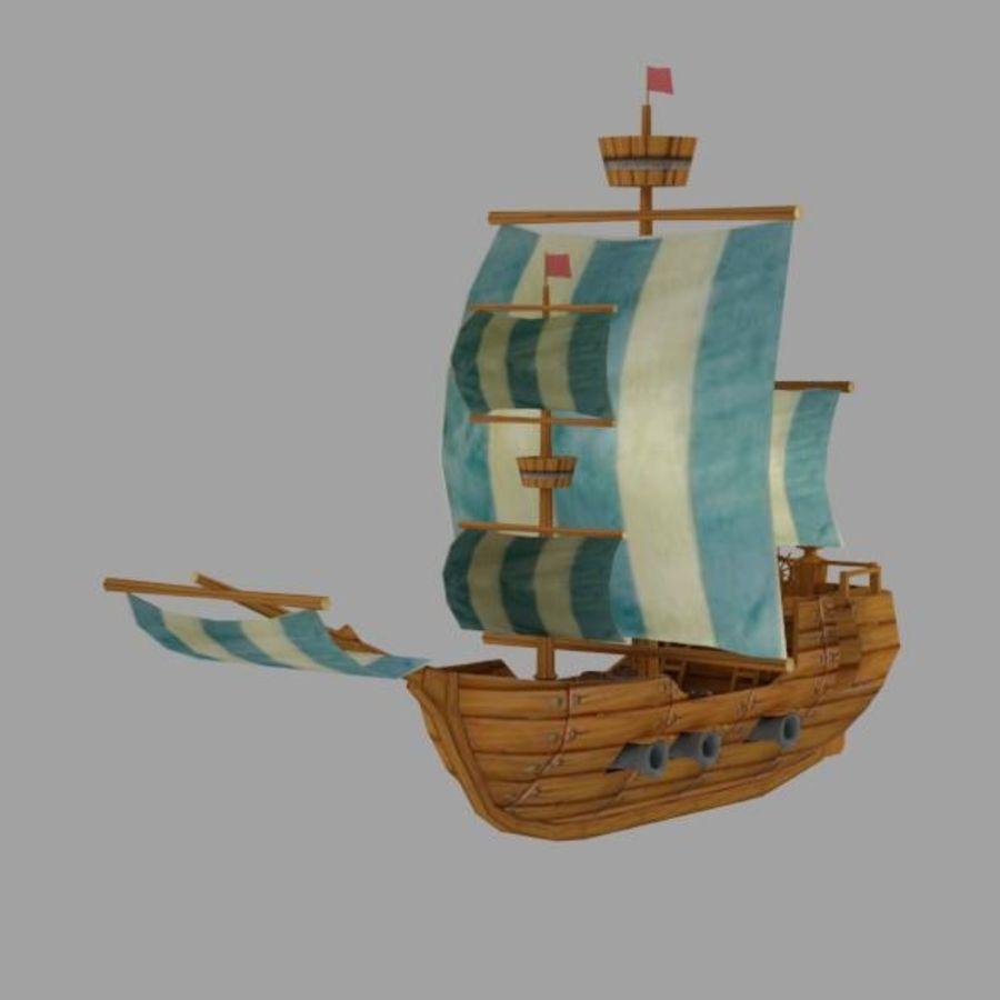 Низкополигональный корабль royalty-free 3d model - Preview no. 5
