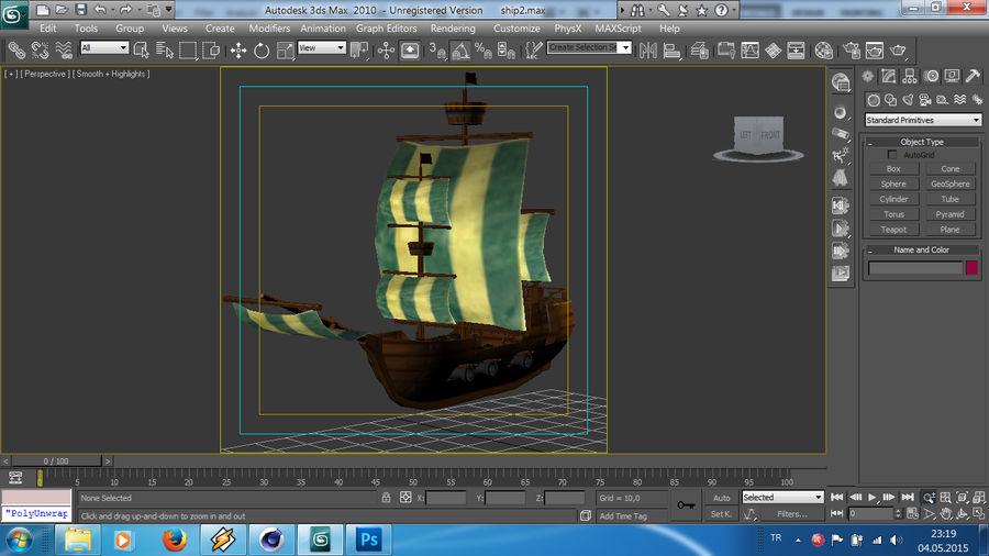 Низкополигональный корабль royalty-free 3d model - Preview no. 13