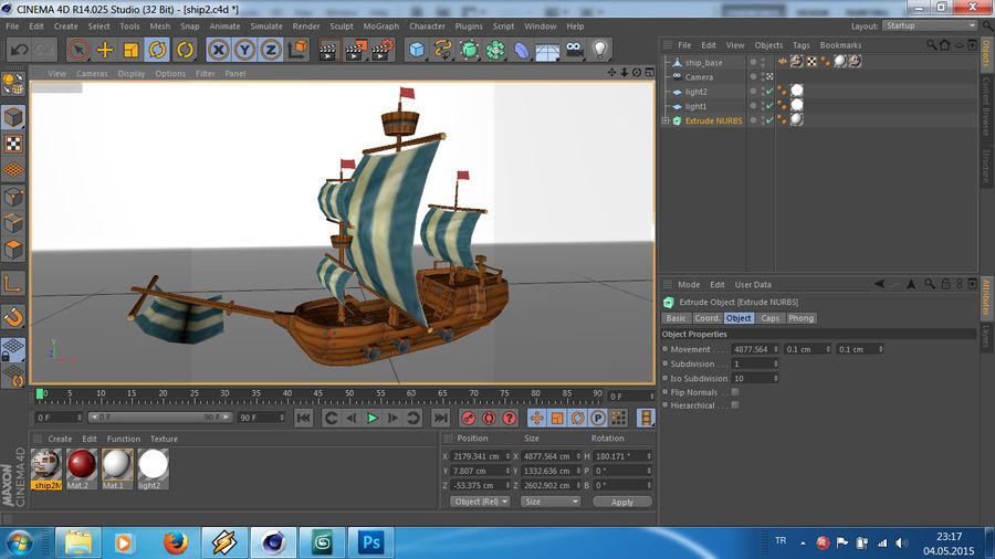 Низкополигональный корабль royalty-free 3d model - Preview no. 12