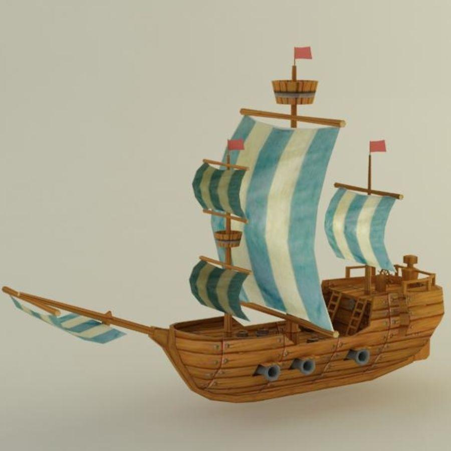 Низкополигональный корабль royalty-free 3d model - Preview no. 2