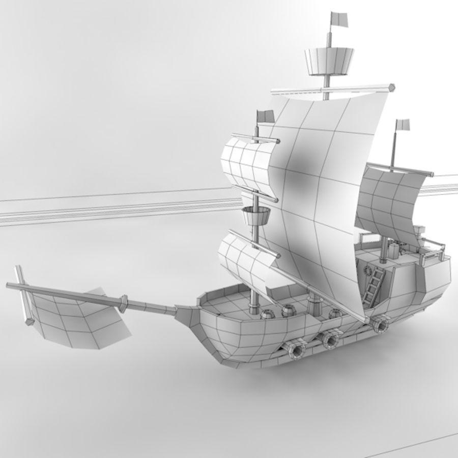 Низкополигональный корабль royalty-free 3d model - Preview no. 9