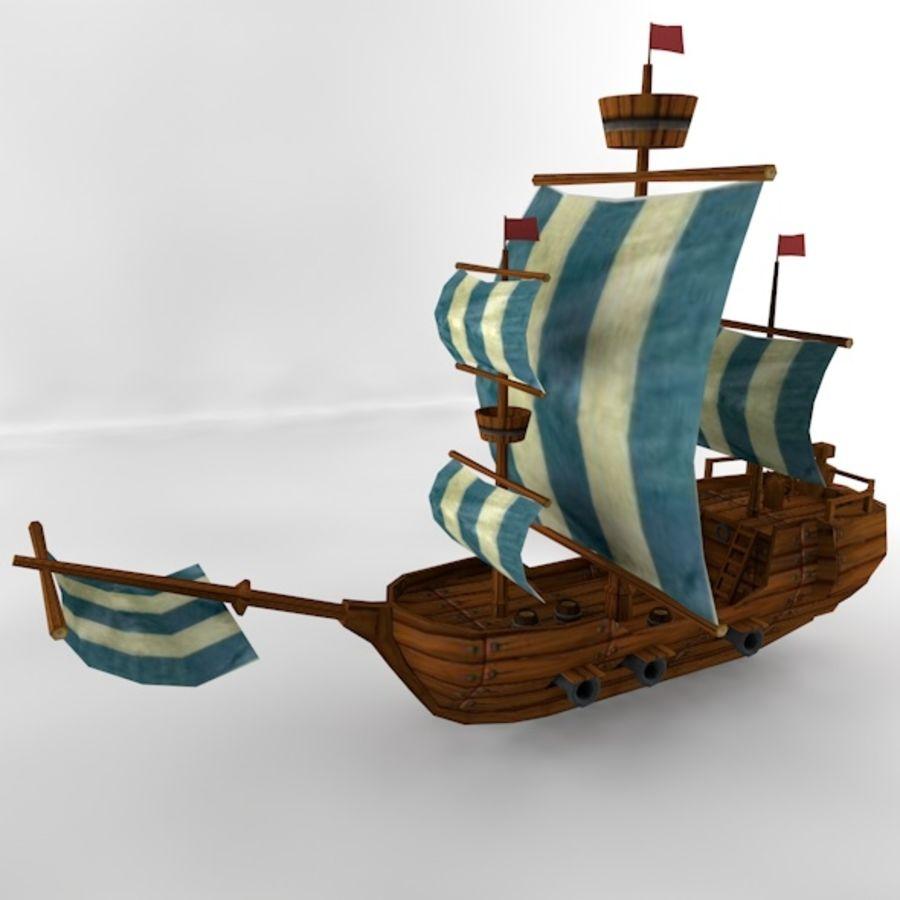 Низкополигональный корабль royalty-free 3d model - Preview no. 8