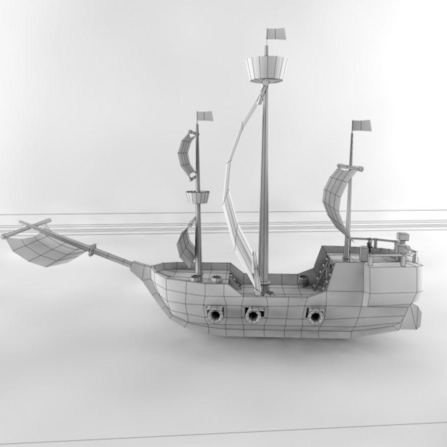 Низкополигональный корабль royalty-free 3d model - Preview no. 11