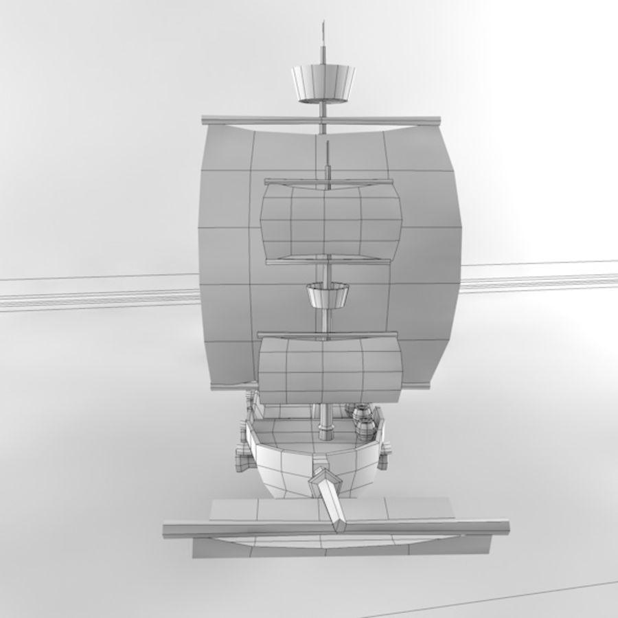 Низкополигональный корабль royalty-free 3d model - Preview no. 10