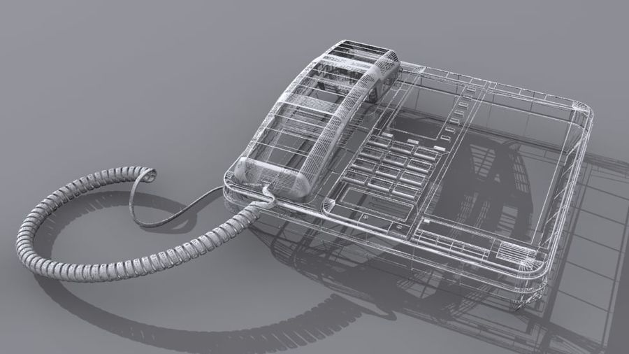 Corded Phone royalty-free 3d model - Preview no. 3