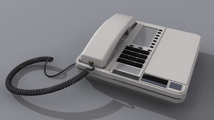 Corded Phone royalty-free 3d model - Preview no. 1