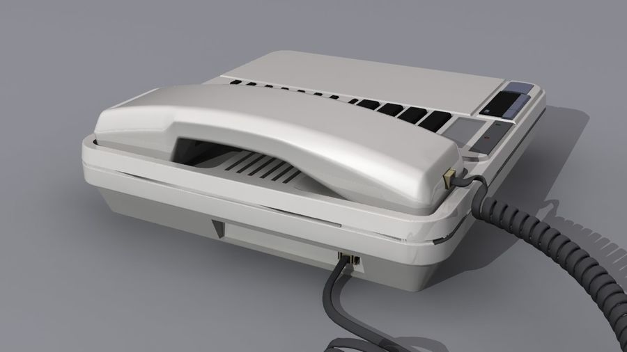 Corded Phone royalty-free 3d model - Preview no. 2