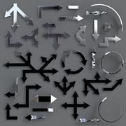3D Arrow Collection 02 3d model