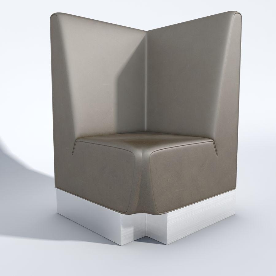 Posto a sedere Aura royalty-free 3d model - Preview no. 8