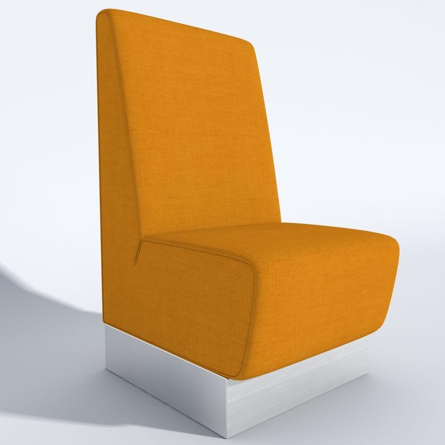 Posto a sedere Aura royalty-free 3d model - Preview no. 5