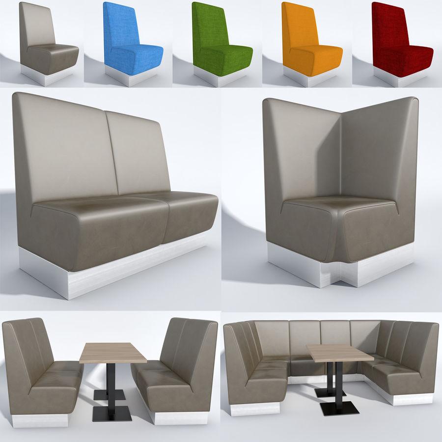 Posto a sedere Aura royalty-free 3d model - Preview no. 1