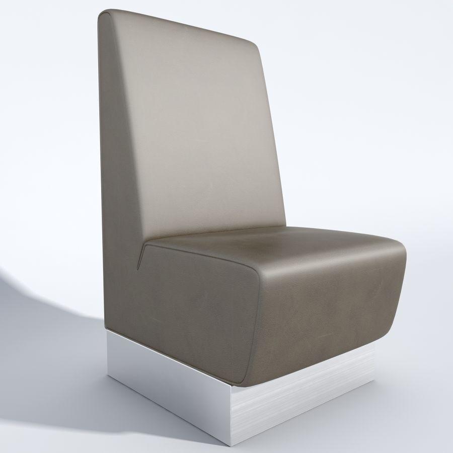 Posto a sedere Aura royalty-free 3d model - Preview no. 2